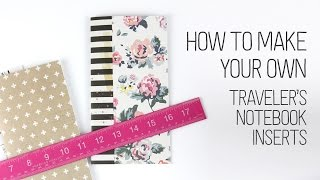 How to make your own Traveler's Notebooks inserts (without a long arm stapler!)
