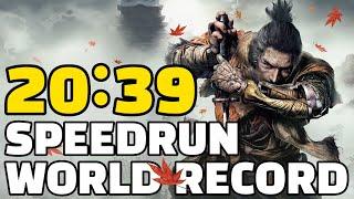 NEW WORLD RECORD Sekiro Any% Speedrun in 20:39