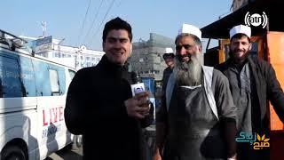 گزارش زندۀ همایون افغان از چهار راهی ترافیک