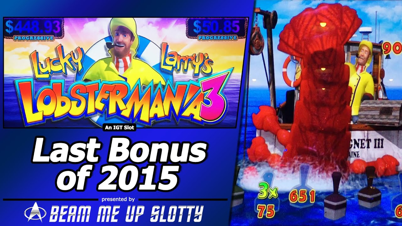Lobstermania 3 Slot - The Last Bonus of 2015, First Attempt at New IGT game - YouTube