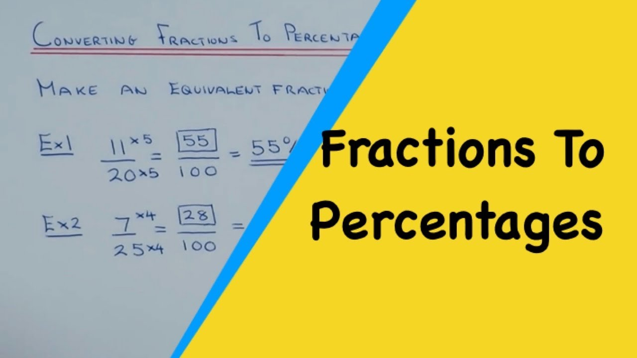 How To Convert A Fraction Into A Percentage Without A ...