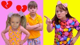 Mama a certat copiii  Video distractiv pentru copii