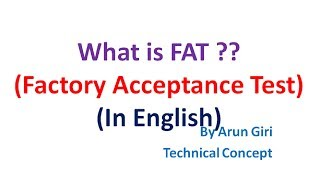 English  What Is Fat ? / Factory Acceptance Test