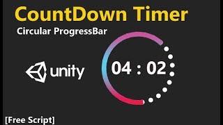 Unity Timer with Circular Progressbar  [ Free Script Included ]