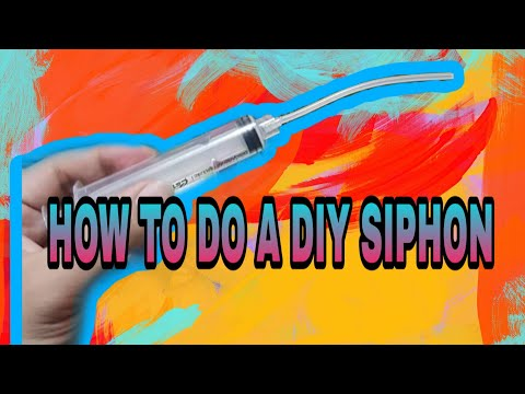 How to make DIY Siphon for cleaning and removing dirt and fish poop. Easiest way!!💯