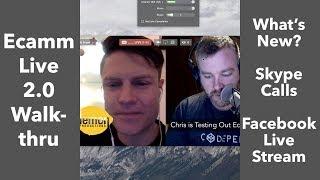 Ecamm Live 2 Tutorial How to Facebook Live Stream on Mac With a Skype Call