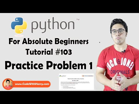 Practice Problem 1 (Easy) |  Python Tutorials For Absolute Beginners In Hindi #103 thumbnail