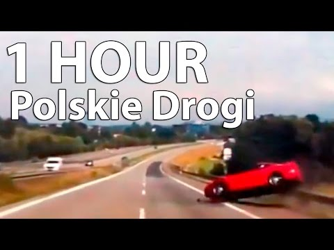 1 HOUR Car Crashes Compilation [Polskie Drogi] # 2016  - FULL HD Long