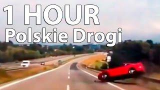 1 HOUR Car Crashes Compilation [Polskie Drogi] # 2016  - FULL HD Long