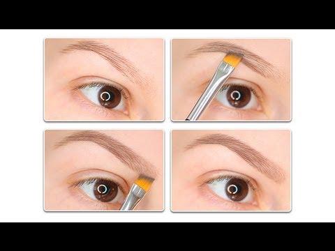 Как правильно рисовать брови тенями поэтапно фото макияж для начинающих
