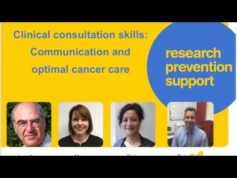 Clinical consultation skills: Communication and optimal cancer care