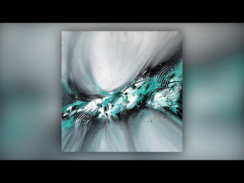 Easy Abstract Painting Techniques / Acrylics / Palette Knife / Demo #022