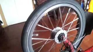 Shimano Brompton dynamo hub spin