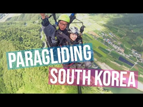 THE BEST ADVENTURE IN SOUTH KOREA! (Danyang Paragliding GoPro Video)