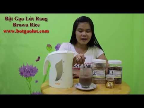 Cách pha Bột gạo lứt rang Brown Rice