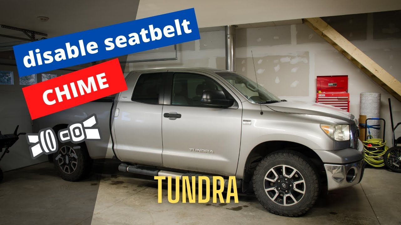 How To Disable Seatbelt Buzzer On Toyota Tundra Please Read Disclaimer In The Description Section Youtube