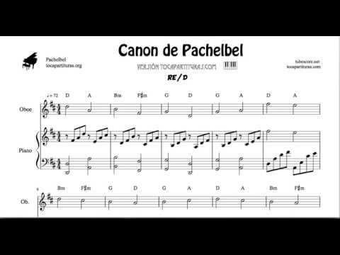 Canon de Pachelbel en D Partitura de Oboe y Piano DÚO Sheet Music for Oboists & Piano Duet Pianists