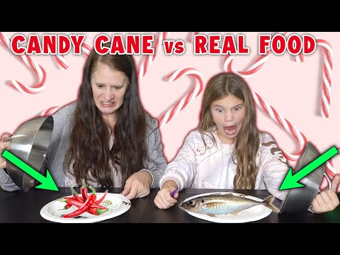 Candy Cane vs Real Food Challenge