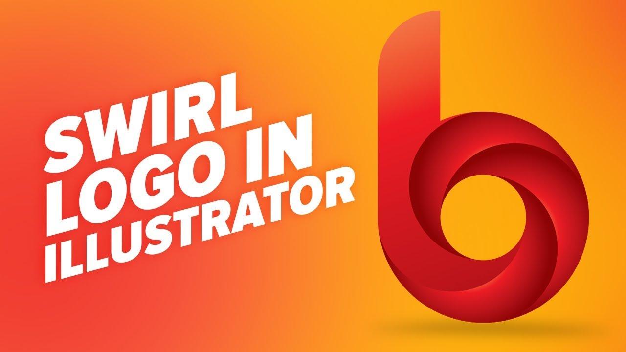 how to create a swirl logo in illustrator b letter logo design