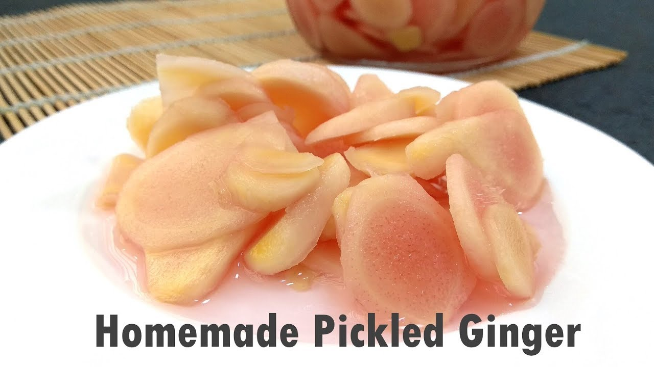 Sweet And Sour Pickled Ginger Gari Ginger Youtube