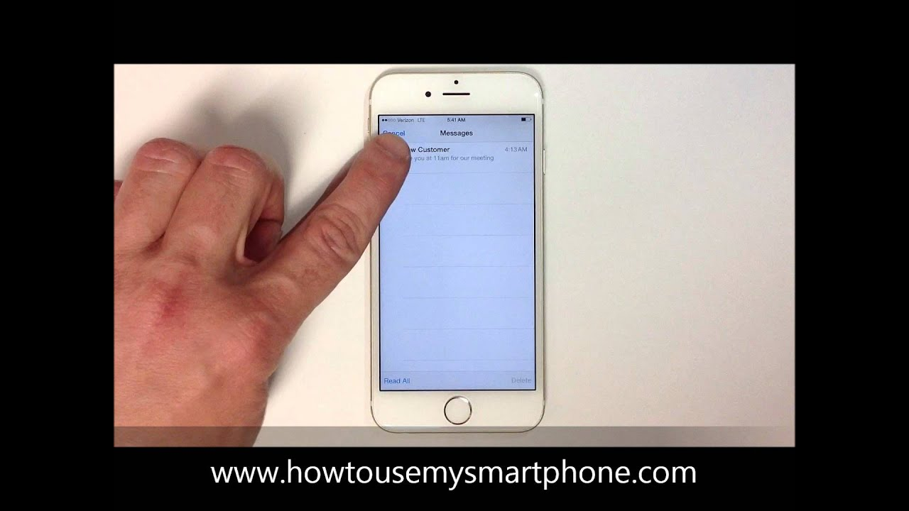 how to delete emails from iphone 5c