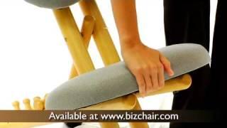 Wooden Ergonomic Kneeling Posture Office Chair (WL-SB-101-GG)