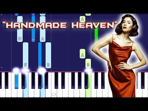 MARINA - Handmade Heaven Piano Tutorial EASY (Piano Cover)