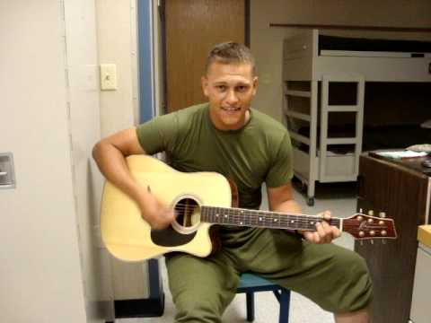"Us Marine Sings ""Too Late To Aploigize"" By One Republic"