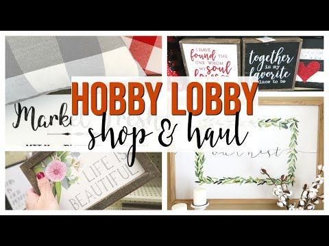 SPRING HOBBY LOBBY SHOP WITH ME & HAUL 2019 | NEW HOME DECOR!