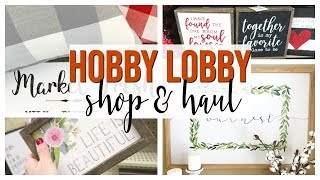 SPRING HOBBY LOBBY SHOP WITH ME & HAUL 2019 | NEW HOME DECOR!