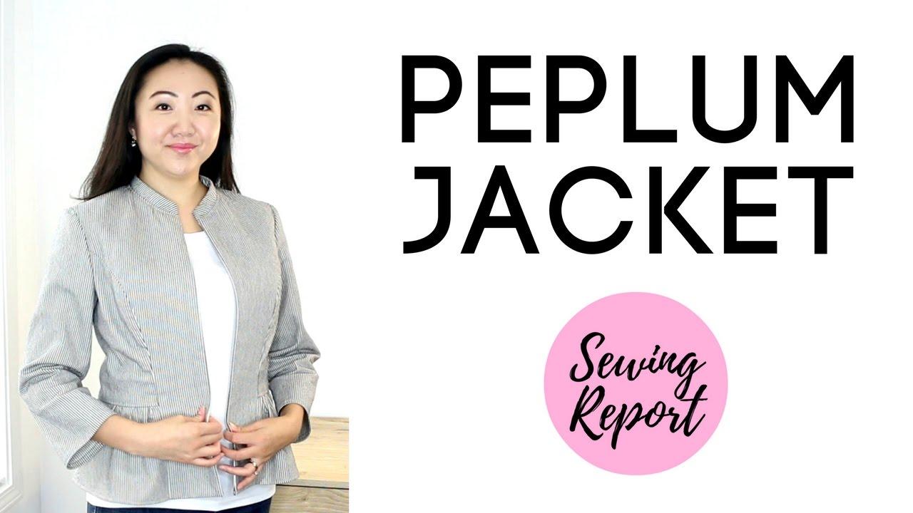 Peplum Jacket | Handmade Wardrobe | Simplicity 1467 Sewing Pattern ...