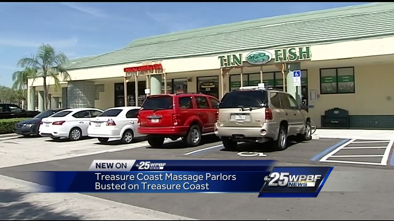 Massage parlors busted on Treasure Coast