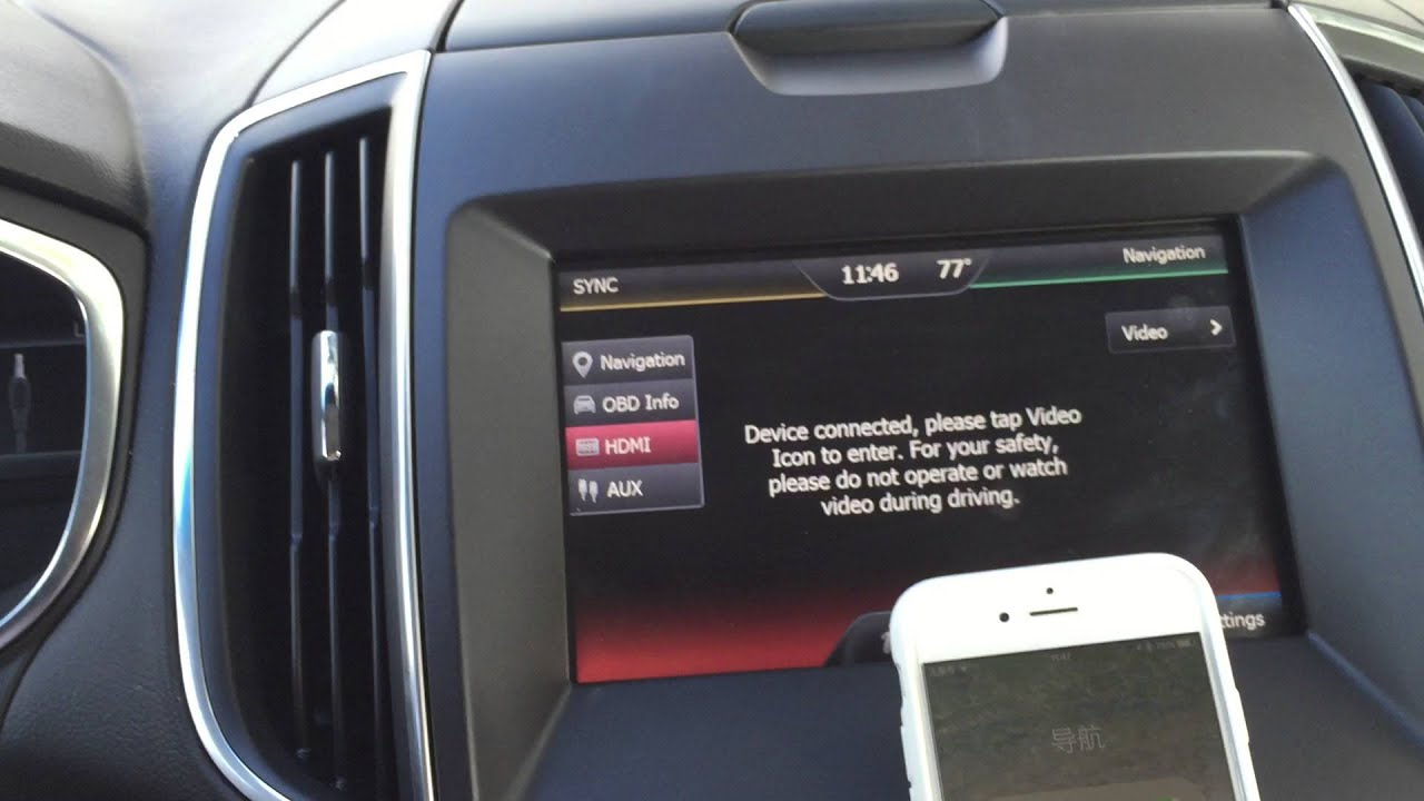 Ford Sync Navigation Upgrade Ford Edge Navigation Upgrade Edge Factory Radio Upgrade Youtube
