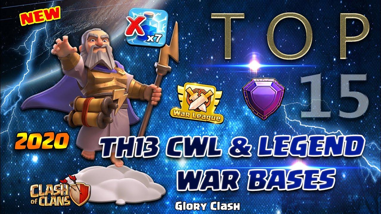 *EPIC* Top 15 Th13 CWL & Legend War Bases / Anti ZAP / Anti 2-3 Star / Clash of clans 部落冲突 #522