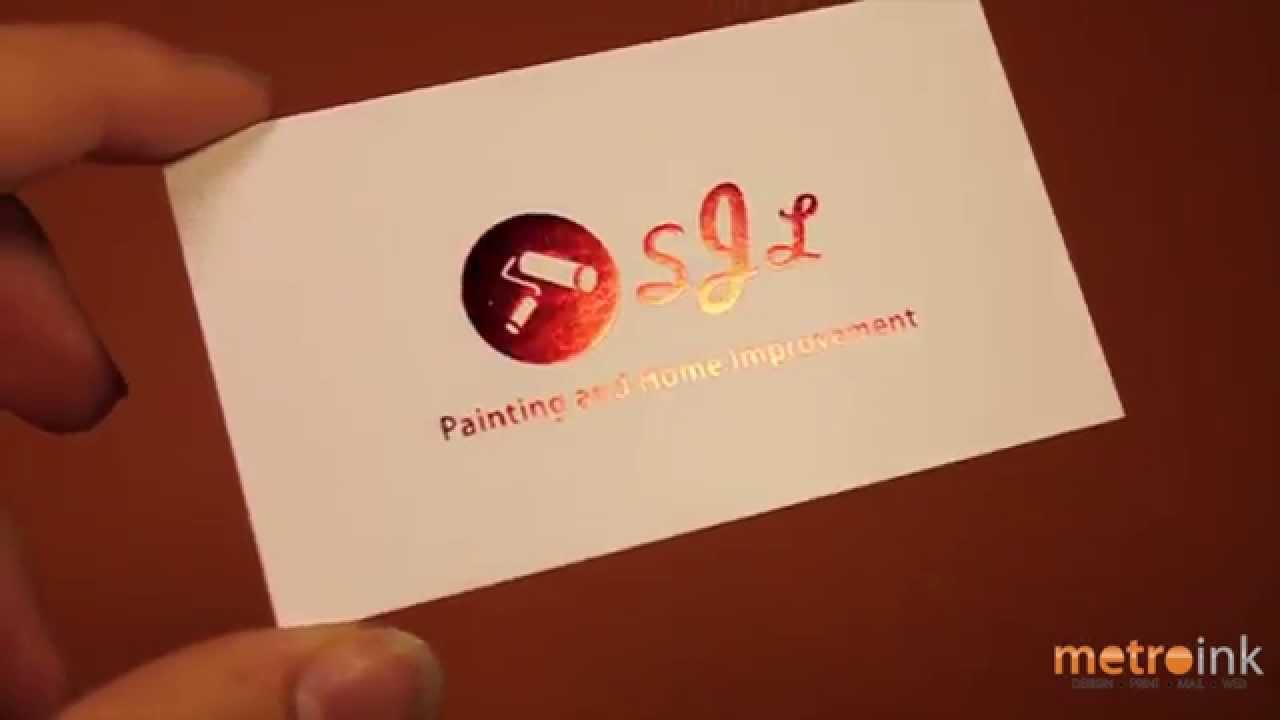 Metroink Silk Foil Stamp Business Card SJL - YouTube