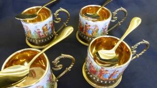 At Redcliffe  24k Gold Plated Teaspoons For Cafes,high Teas,gifts And Presents ,