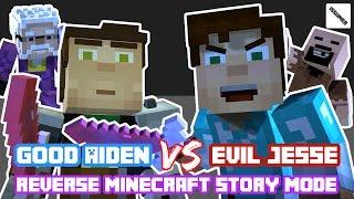 REVERSE ROLE! GOOD Aiden vs EVIL Jesse! Reverse Minecraft Story Mode