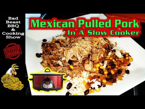 Mexican Pulled Pork In A Slow Cooker