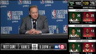 Mike Budenholzer postgame reaction | Raptors vs Bucks Game 4 | 2019 NBA Playoffs