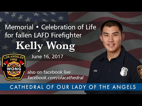 Celebration of Life for fallen LAFD Firefighter Kelly Wong - Memorial Service