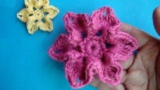 Вязаный цветок Урок 18 How to crochet flower Flor de punto