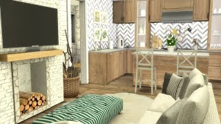 The Sims 4: Speed Build // THE SIMS RESOURCE TINY HOME + CC LINKS