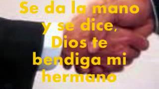 SALUDO DE HERMANOS EN CRISTO JESÚS CON LETRAS