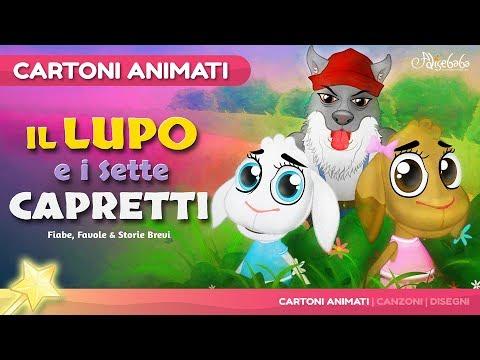 Il Lupo ei Sette Capretti storie per bambini - Cartoni Animati - Fiabe e Favole per Bambini