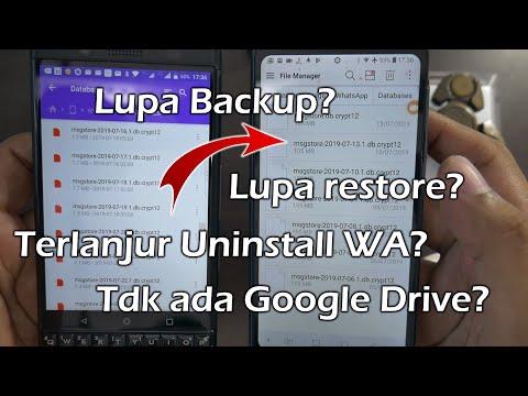 Cara Mengembalikan Chat WhatsApp TANPA Google Drive