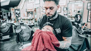 The Perfect Barber Shave (ASMR Edition - 30 minutes - No Tal...