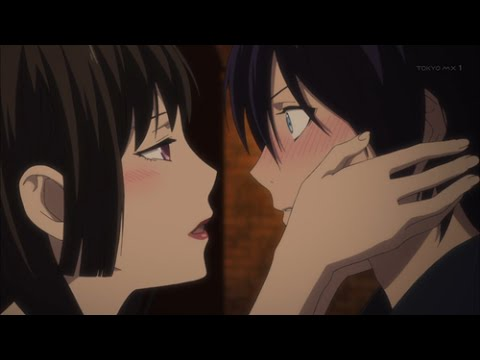 Noragami - Yato meets Izanami: Yato meets Izanami, Queen of the Underworld. She can assume the guise of the person her visitor feels most comfortable with and in Yato's case, it's Hiyori. He blushes when Izanami tries to seduce him. Yato can't help but be momentarily attracted because he sees a scantily clad Hiyori. It's pretty hot!  I OWN NOTHING!