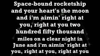 Space Bound - Eminem (Lyrics on screen]