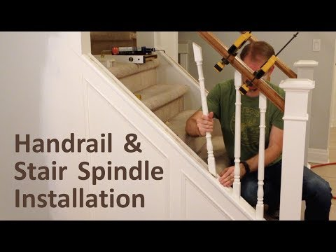 how-to-install-handrail-and-stair-spindles-(staircase-renovation-ep-4)