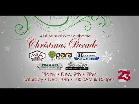 41st Annual West Alabama Christmas Parade - 12/8/16 - YouTube